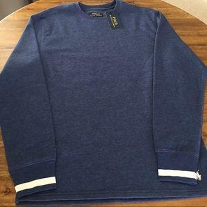 NWT Polo by Ralph Lauren blue shirt sweater soft